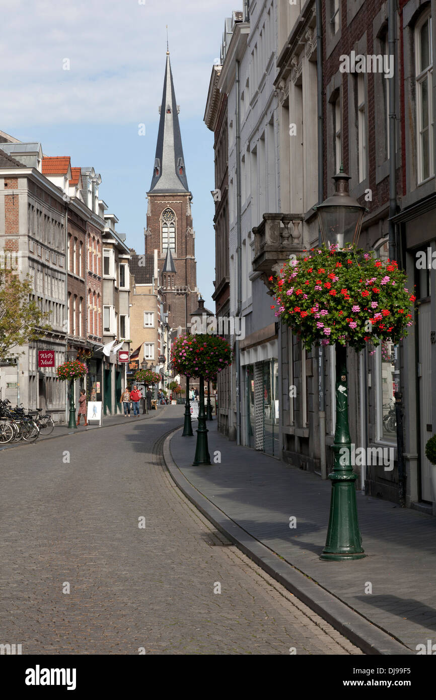 Shopping street in maastricht netherlands stock photo - Maastricht mobel ...