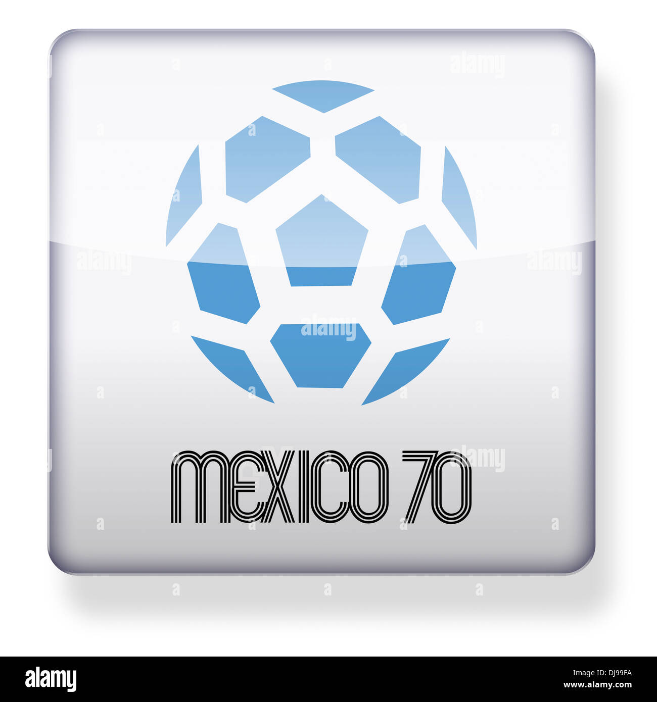 Mexico 1970 World Cup logo as an app icon. Clipping path included. - Stock Image