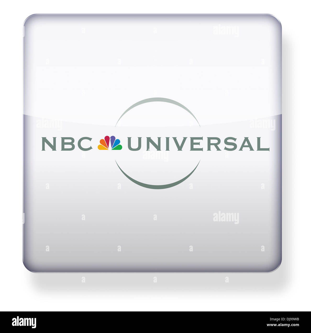 NBC Universal logo as an app icon. Clipping path included. - Stock Image