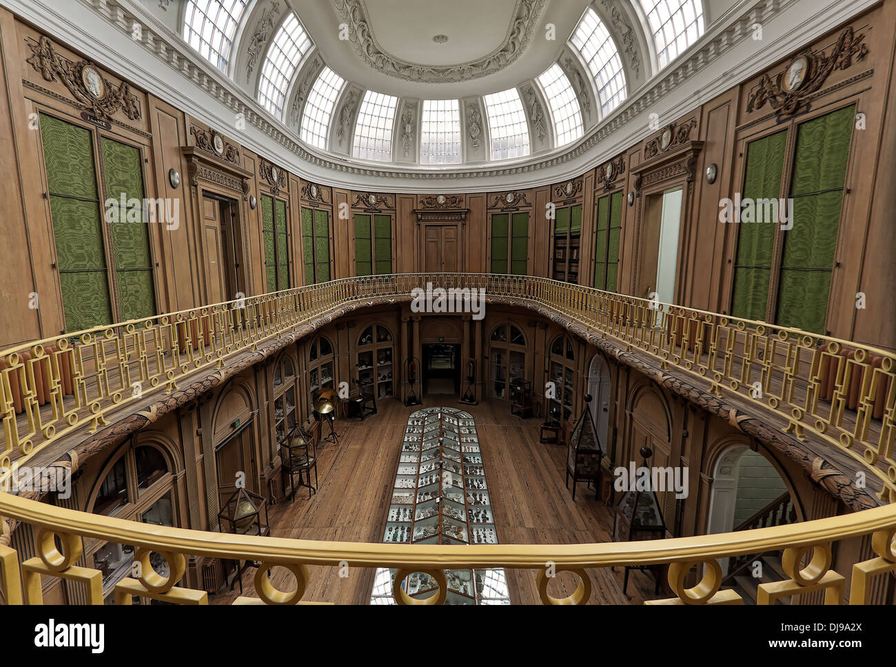 The Oval room at Teylers Museum, Haarlem, North Holland, The Netherlands. - Stock Image