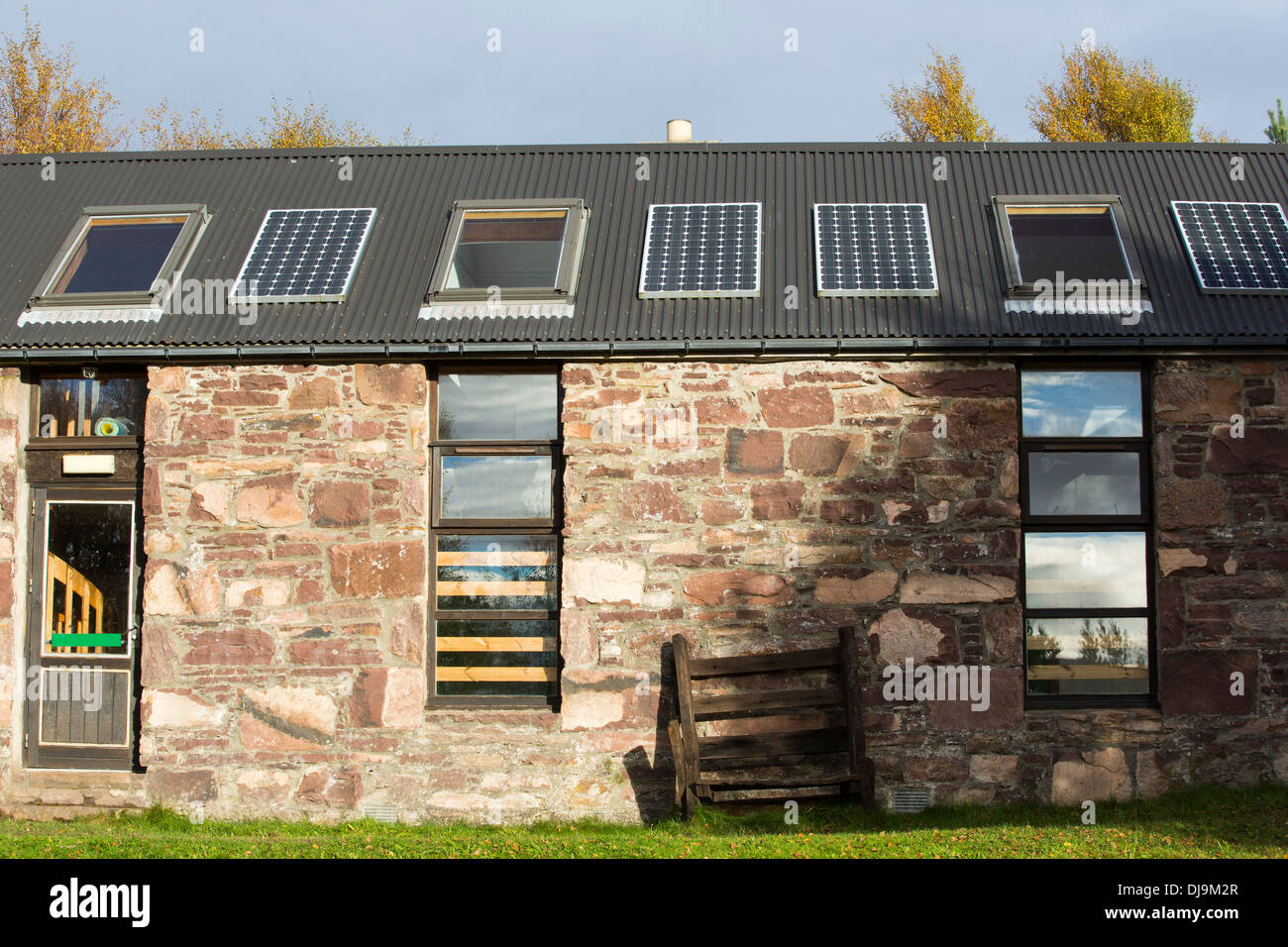 Remote School Scotland Stock Photos Whole House Window Fan Wiring Diagram Solar Panels On The In Scoraig Nw One Of Most