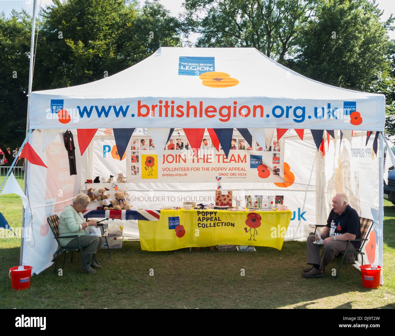British Legion Collection Tent - Stock Image