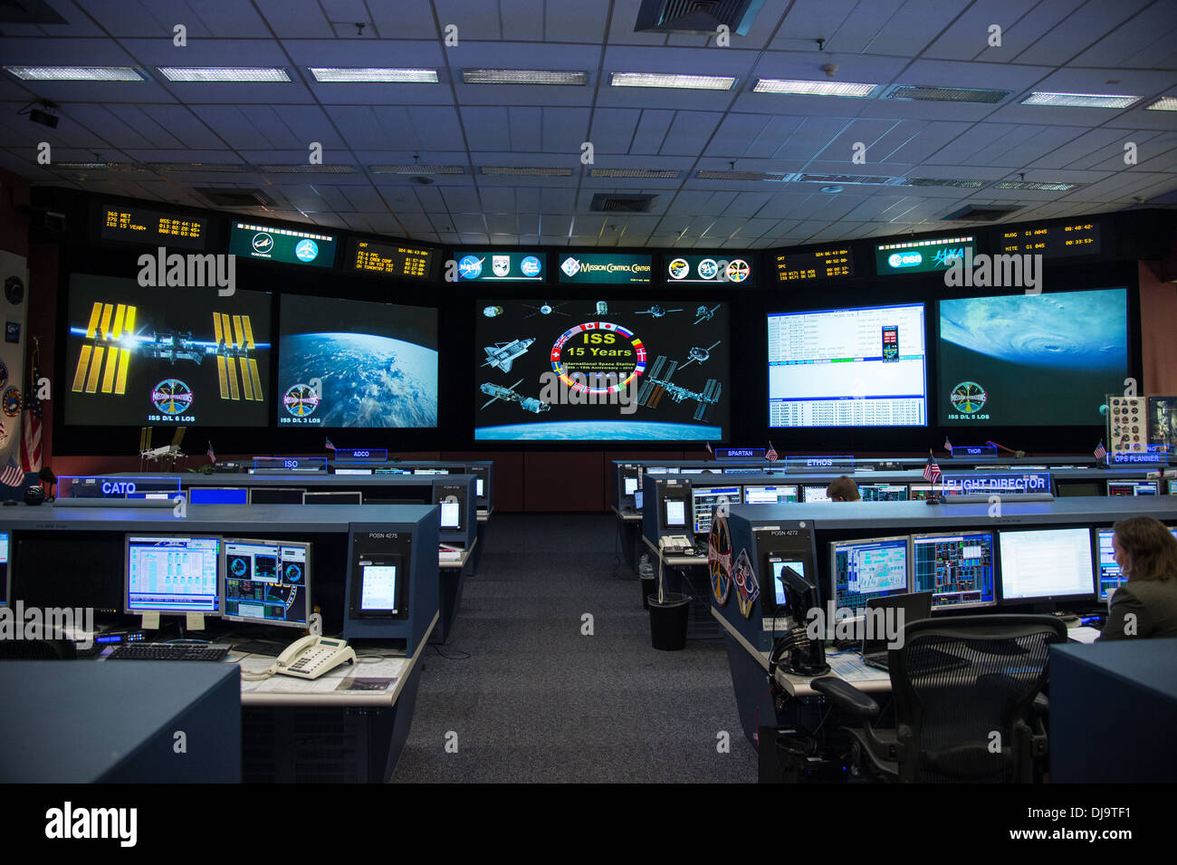 ISS International space station control centre - Stock Image