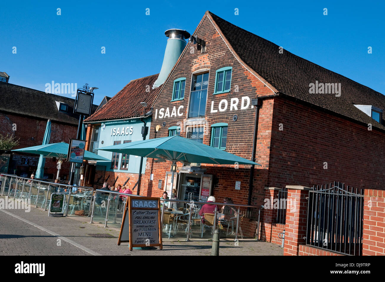 isaac lord public house restaurant cafe, ipswich, suffolk, england - Stock Image