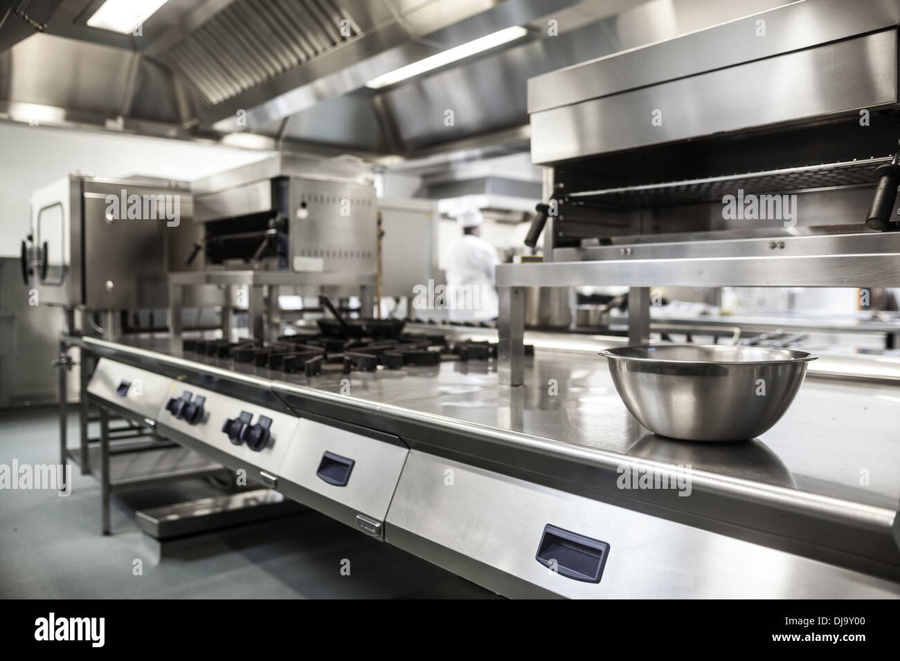 Work surface and kitchen equipment - Stock Image