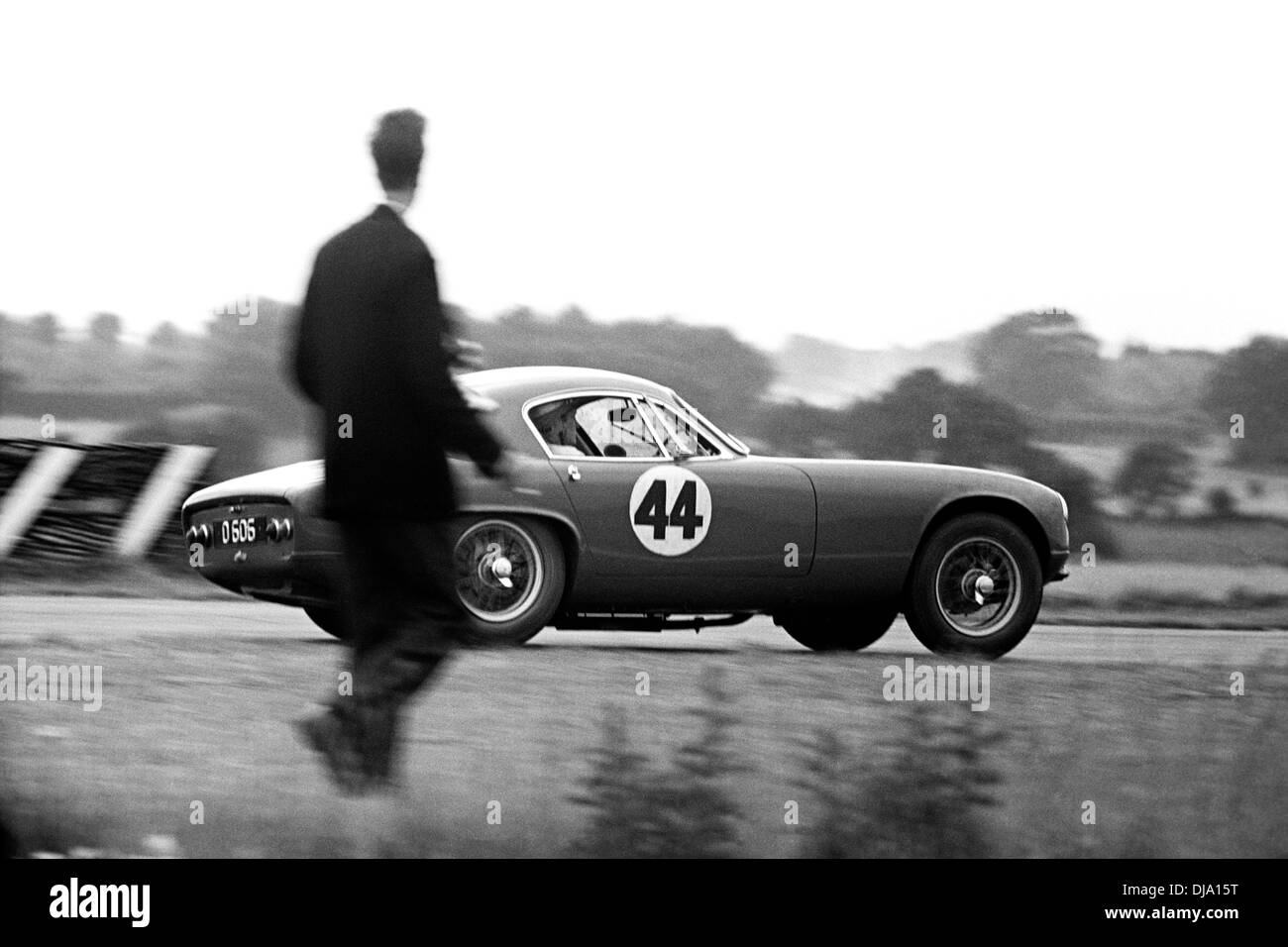 No44 Chris Summers driving a Lotus Elite in the Tourist Trophy, Goodwood, England 20 August 1960. - Stock Image