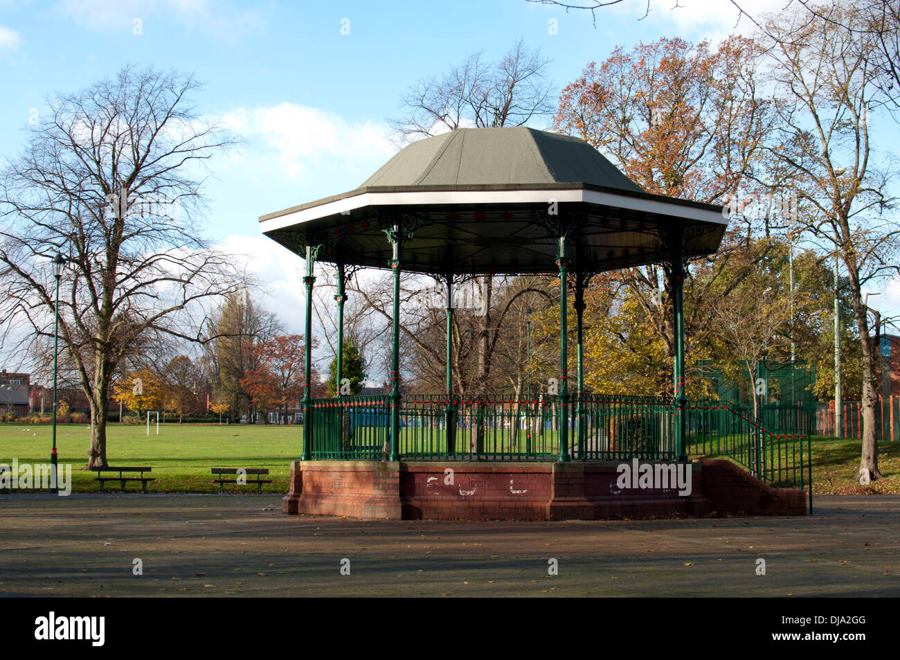 The bandstand in Sparkhill Park, Birmingham, UK - Stock Image