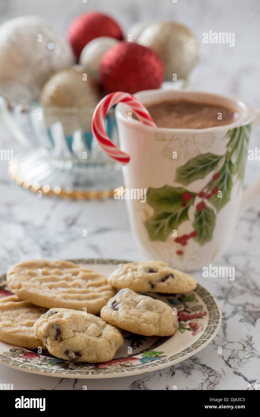 Christmas Cookies With A Mug Of Hot Cocoa Stock Photo 62917123 Alamy
