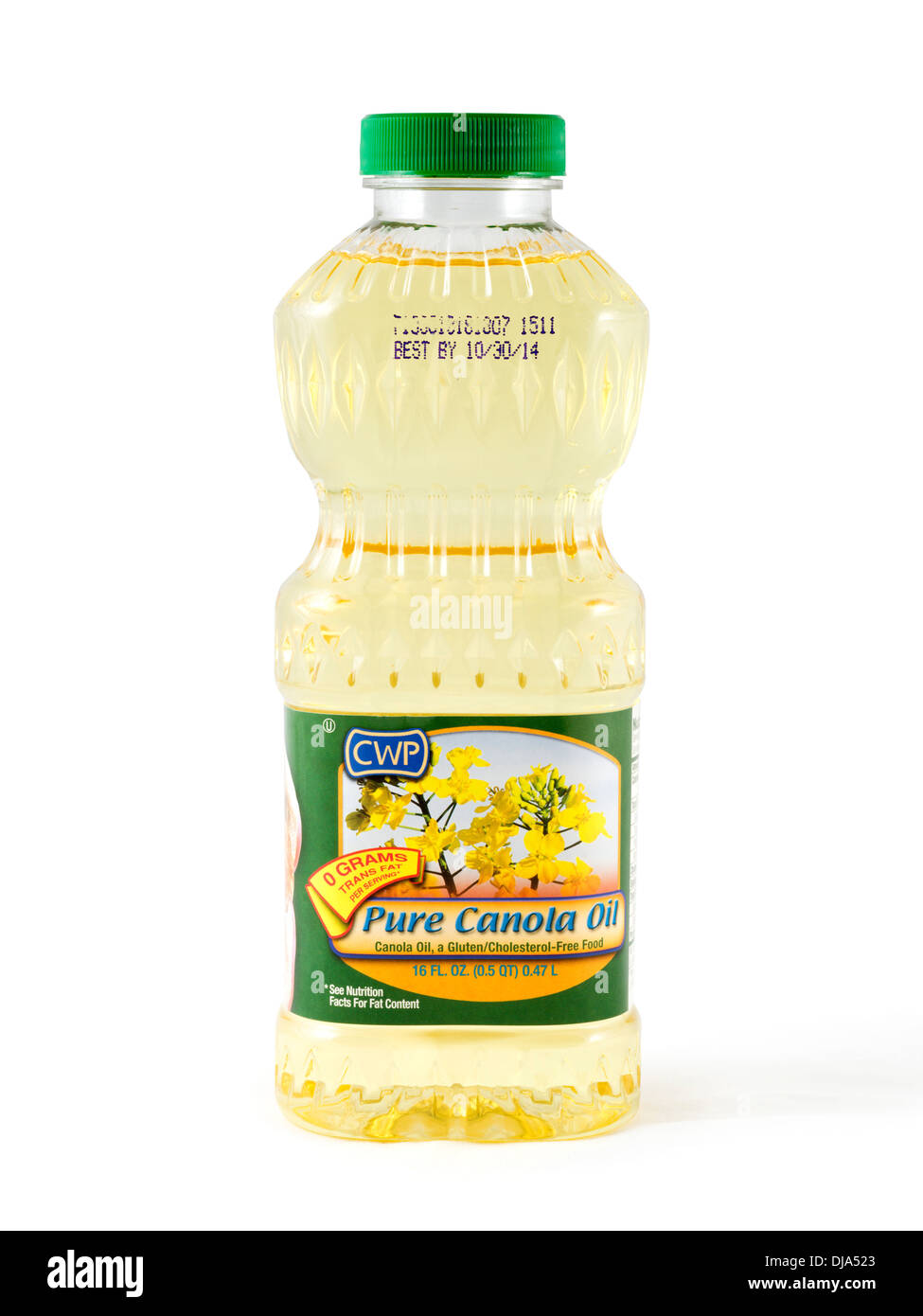 Bottle of CWP Pure Canola Oil, USA - Stock Image