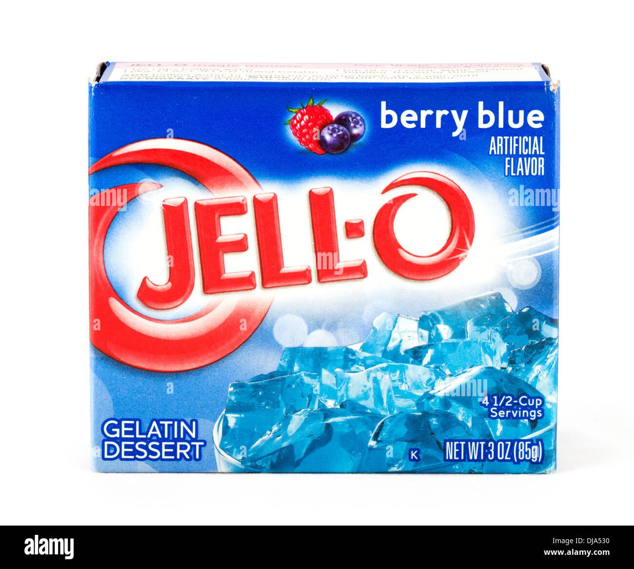 Packet of Jell-O gelatin dessert, USA - Stock Image
