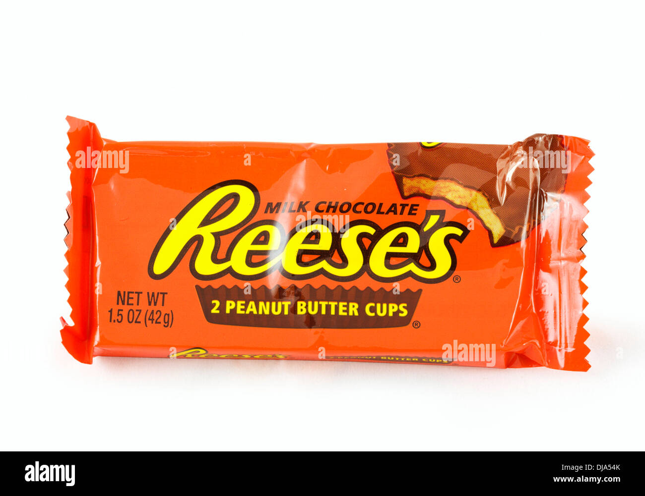 Packet of Reese's Peanut Butter Cups, USA - Stock Image