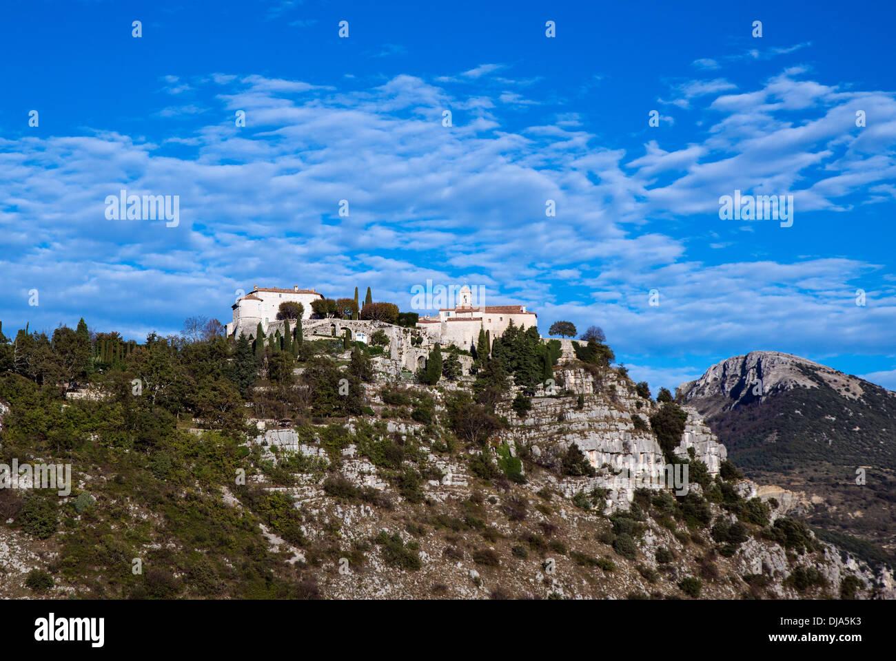 Medieval hilltop village, Gourdon, Provence, France - Stock Image