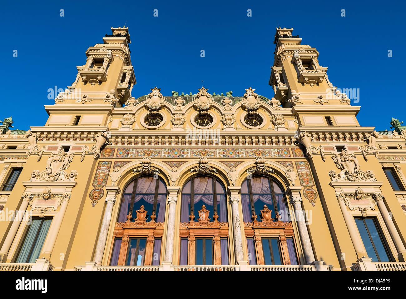 Exterior of the Salle Garnier, Opéra de Monte-Carlo, Monaco - Stock Image