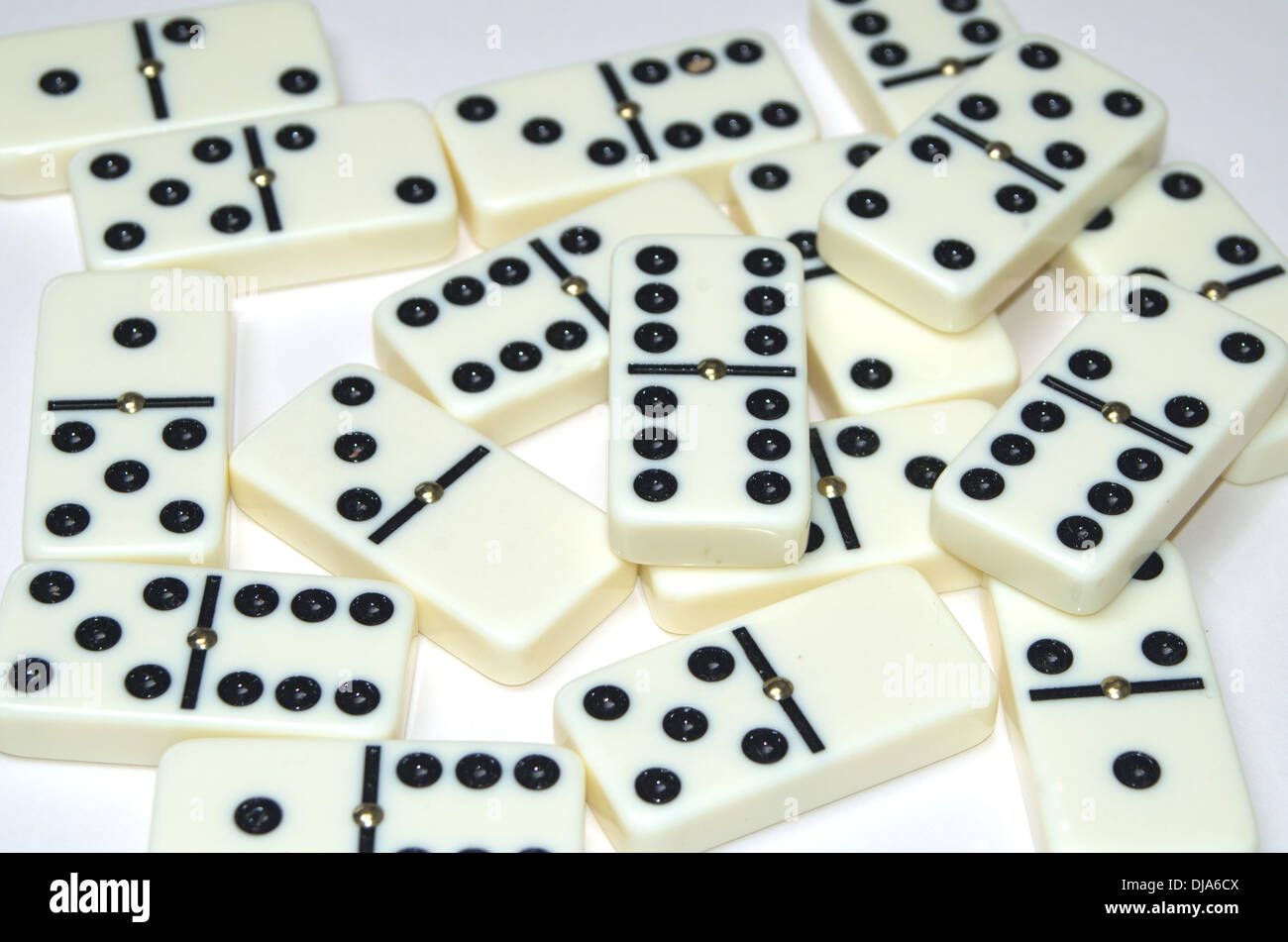 Double Six Dominoes Game Stock Photos Double Six Dominoes Game