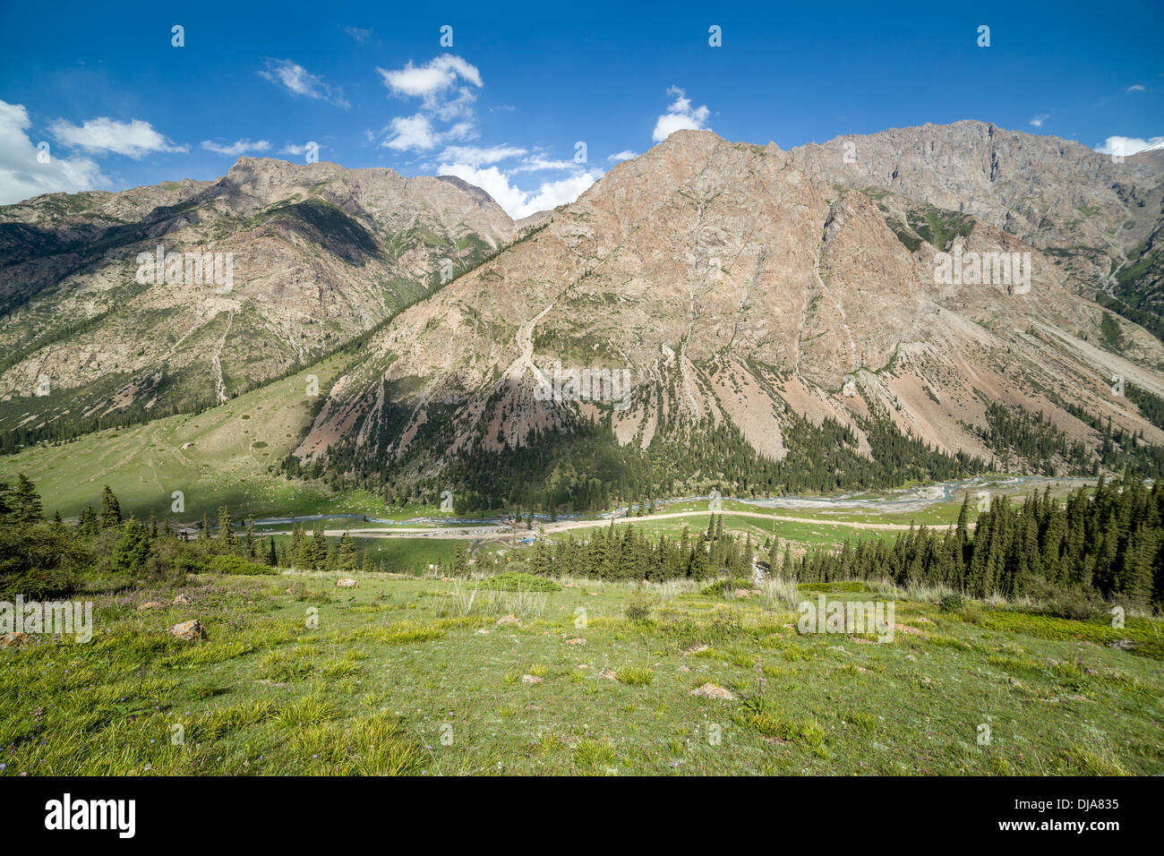 Barskoon walley. Tien Shan, Kirghizia Stock Photo