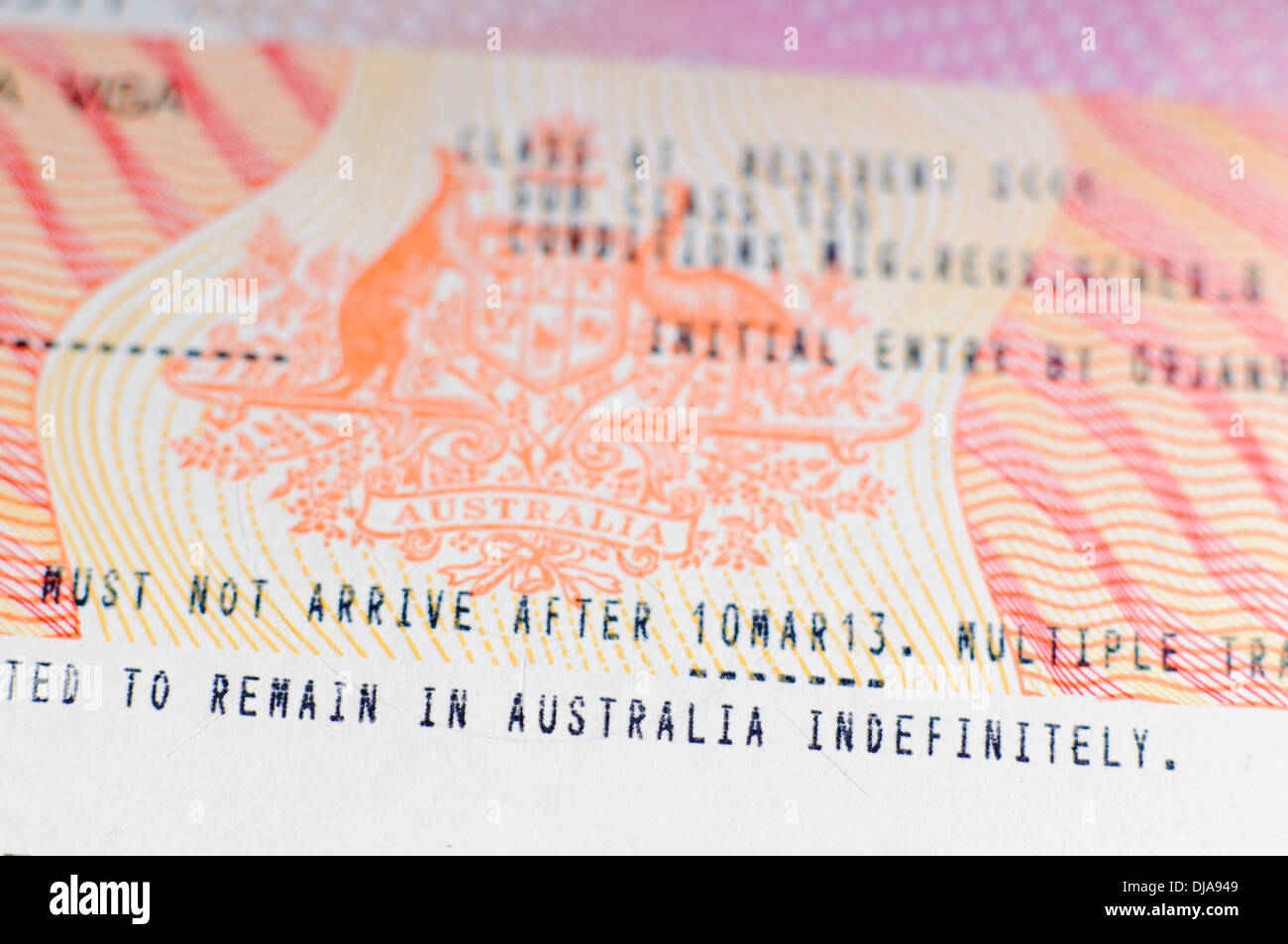 how to let australian immigration know about the new passport