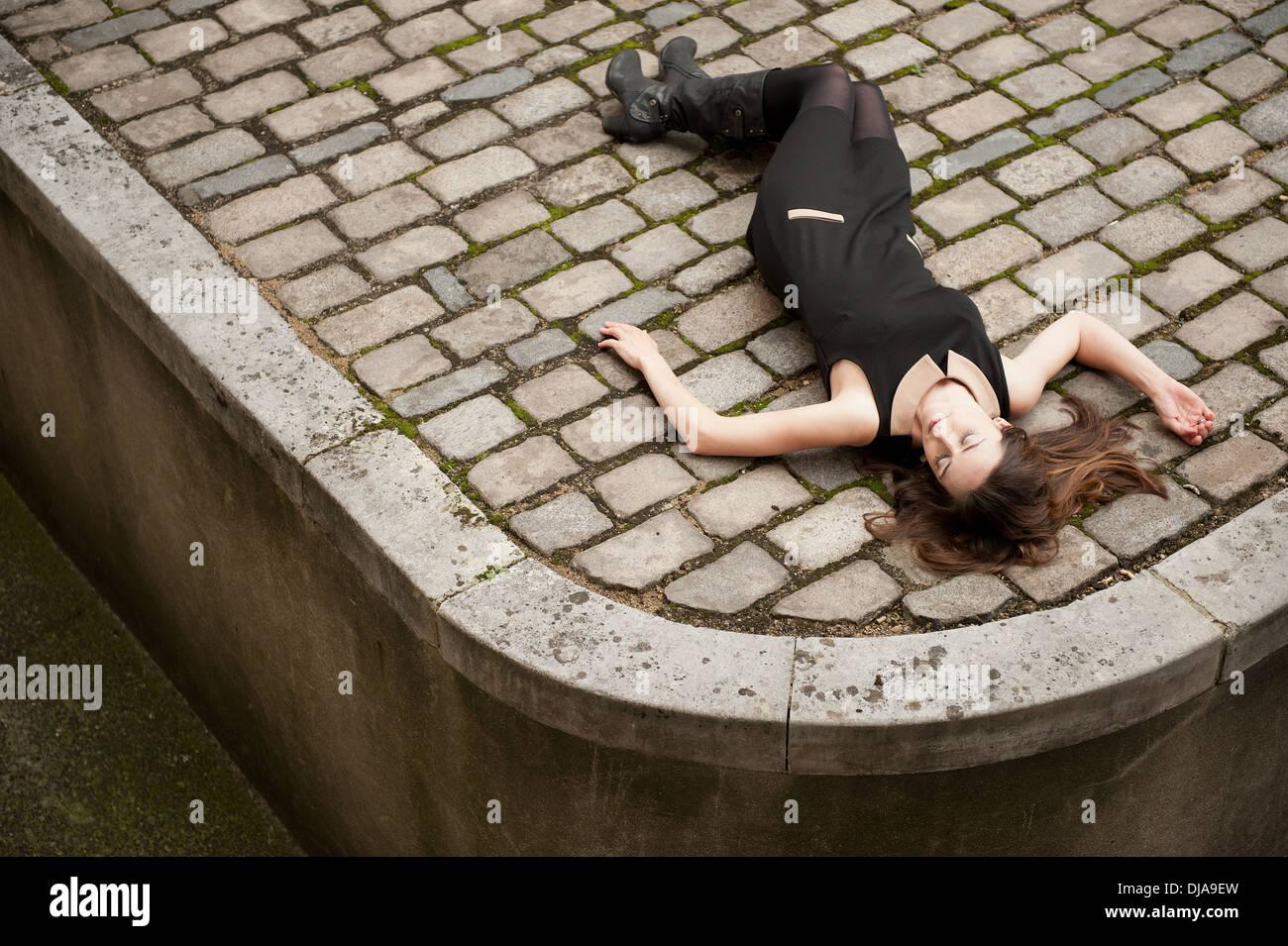 85b039697b Dead Woman Lying On The Floor Stock Photos   Dead Woman Lying On The ...