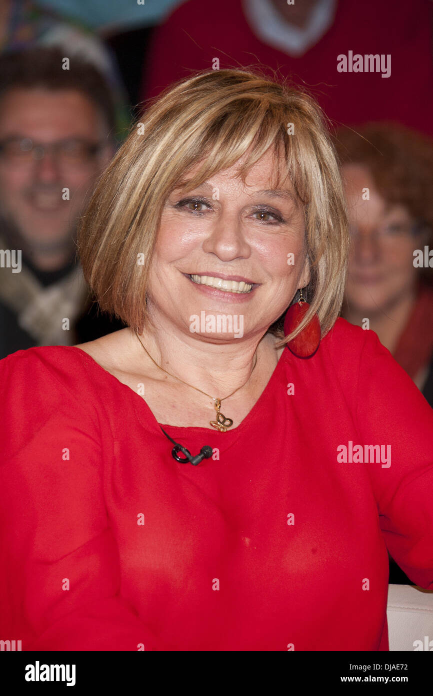 Mary Roos on German ZDF TV talkshow 'Markus Lanz' at Stahltwiete. Hamburg, Germany - 14.03.2012 Stock Photo