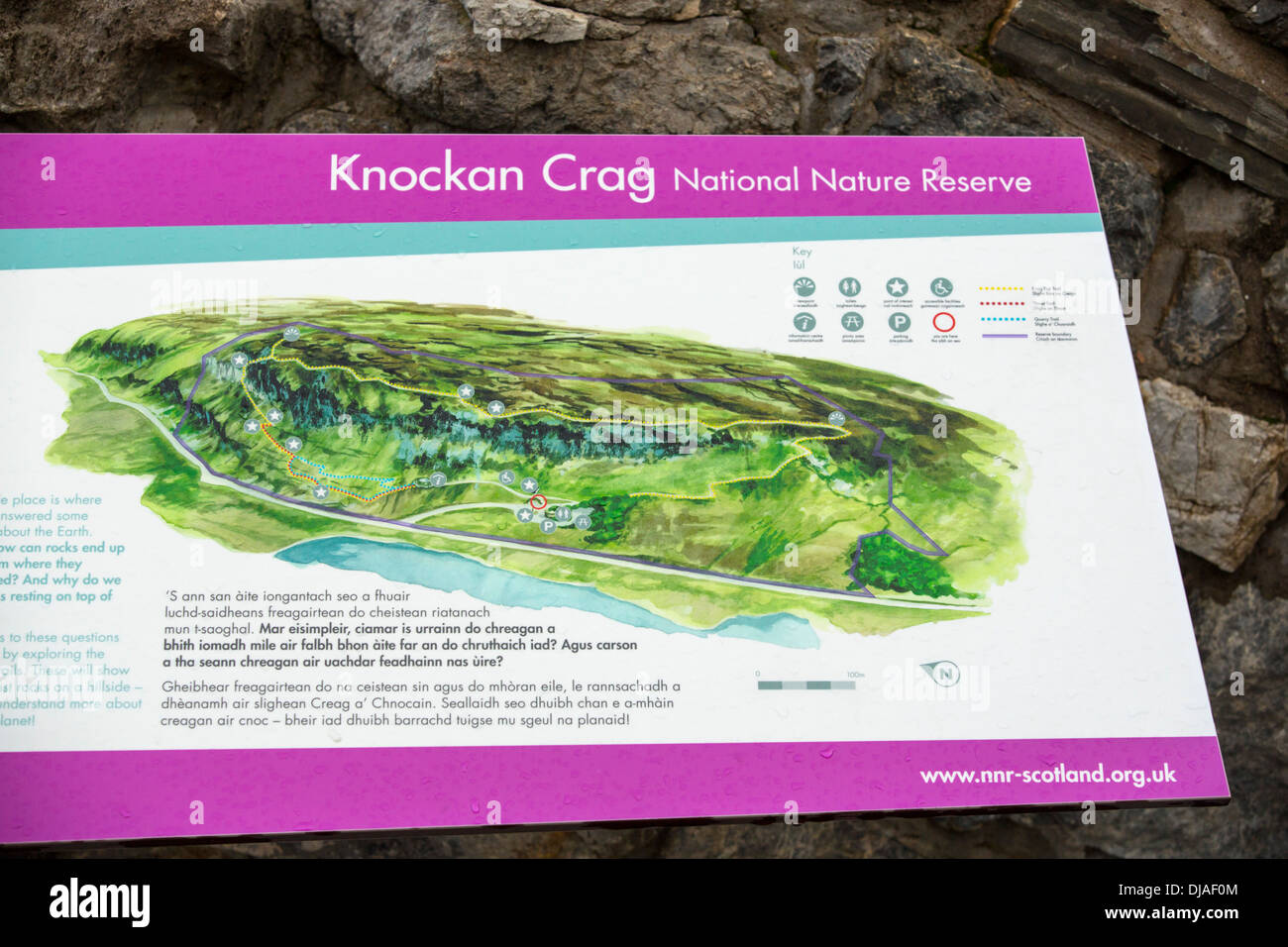Knockan Crag in Assynt, Scotland, UK, a famous geological site where the Moine Thrust - Stock Image