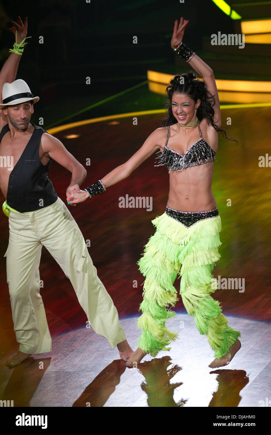 Rebecca Mir Massimo Sinato At The Rtl Tv Show Let S Dance At Mmc Stock Photo Alamy