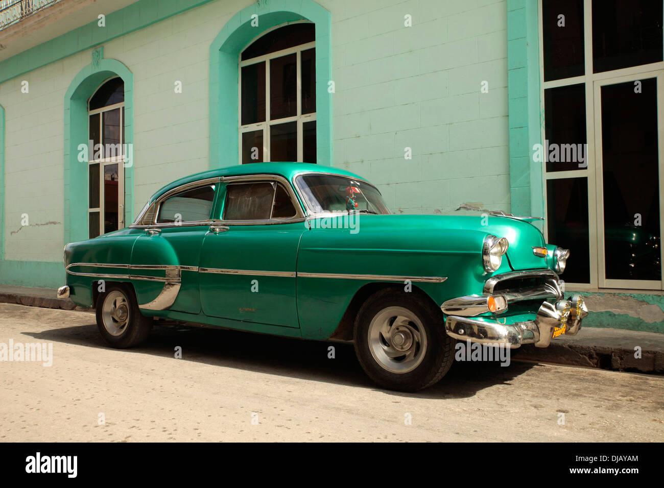 Vintage car, American classic car, Camagüey, Cuba - Stock Image