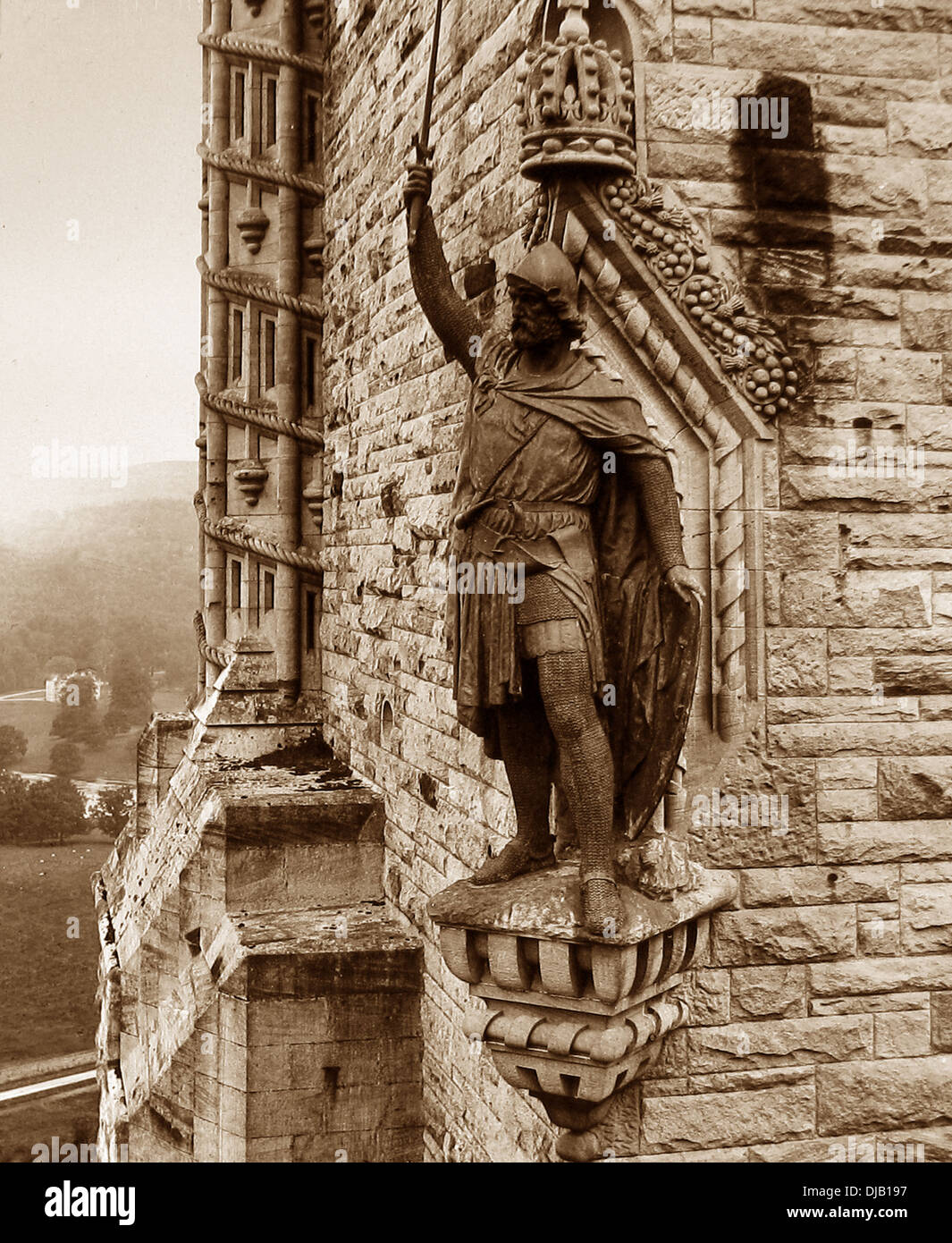 Wallace Monument Stirling Victorian period - Stock Image