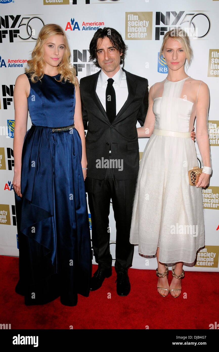 Greta Gerwig, Director Noah Baumbach and Mickey Sumner The