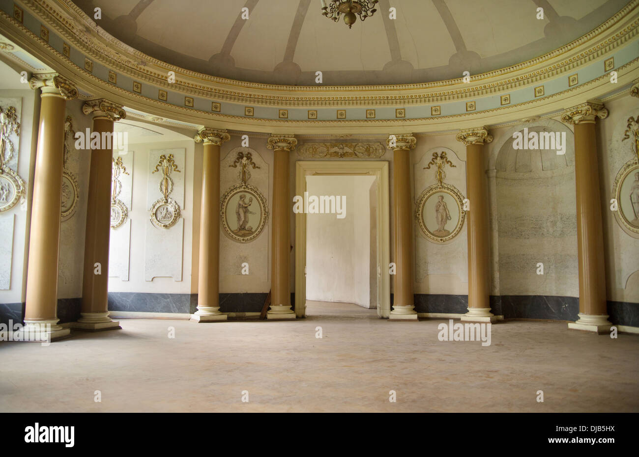Nice photo of the ancient bright interior - Stock Image