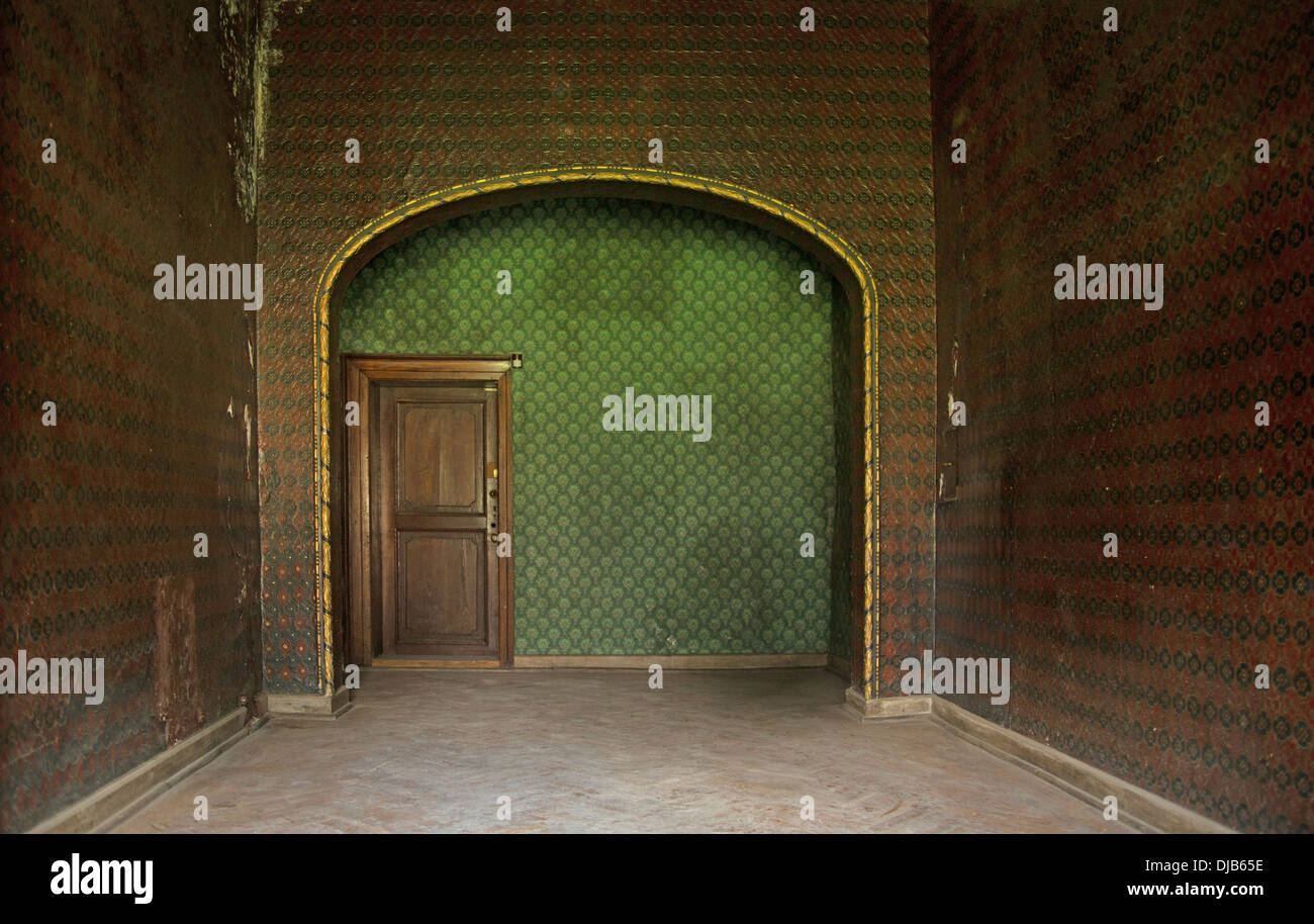 Picture presenting old interior in ancient building - Stock Image