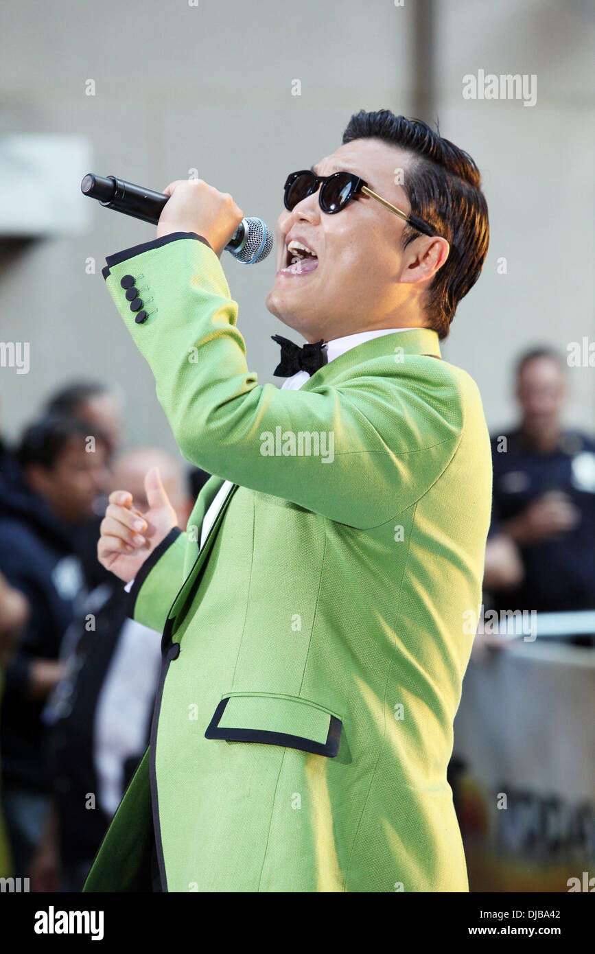 South Korean rapper PSY performs
