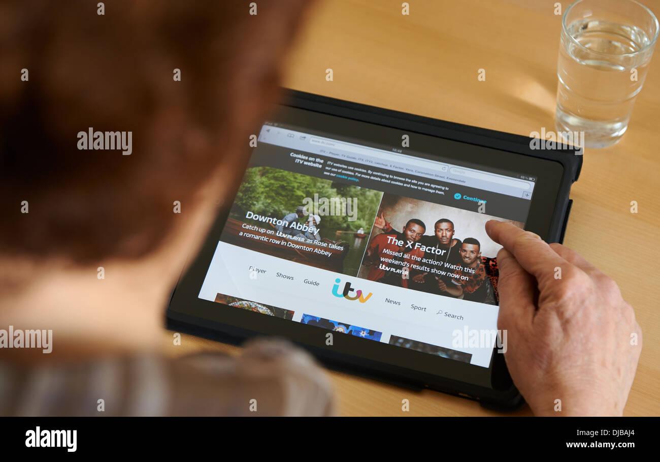 ITV homepage - Stock Image