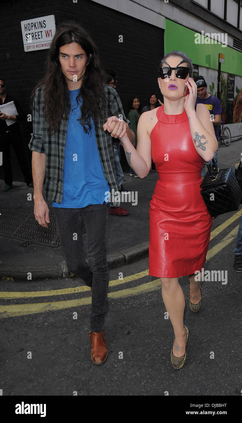 Matthew Mosshart and Kelly Osbourne London Fashion Week Spring/Summer 2013 - House Of Holland - Outside Arrivals. Stock Photo