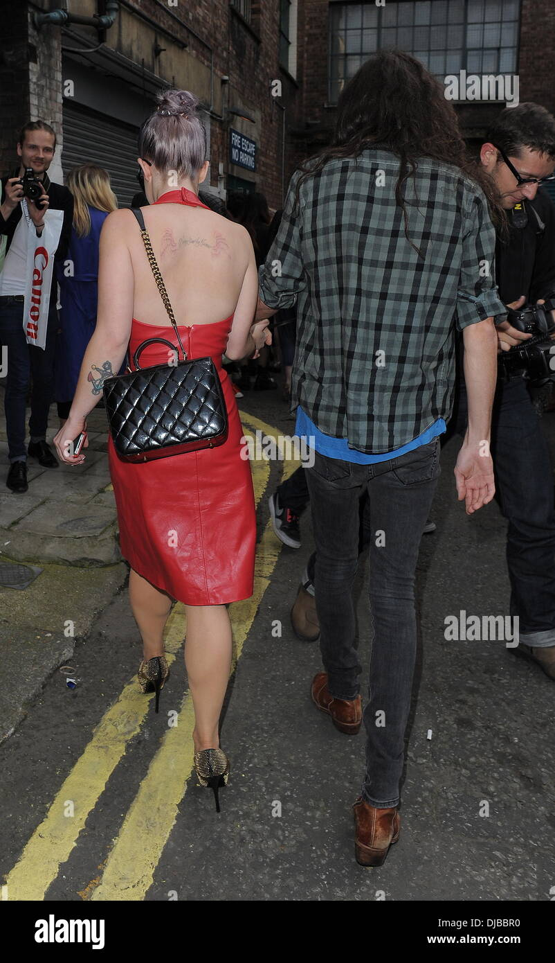 Kelly Osbourne and Matthew Mosshart London Fashion Week Spring/Summer 2013 - House Of Holland - Outside Arrivals. Stock Photo