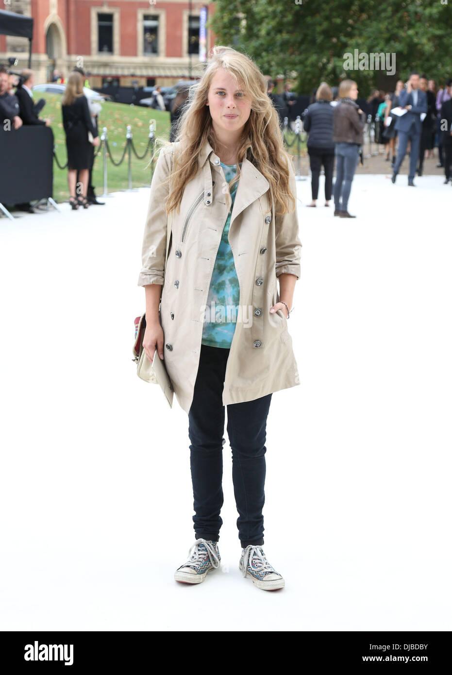 Maricka Hackman London Fashion Week Spring/Summer 2013 - Burberry - Arrivals London, England - 17.09.12 - Stock Image