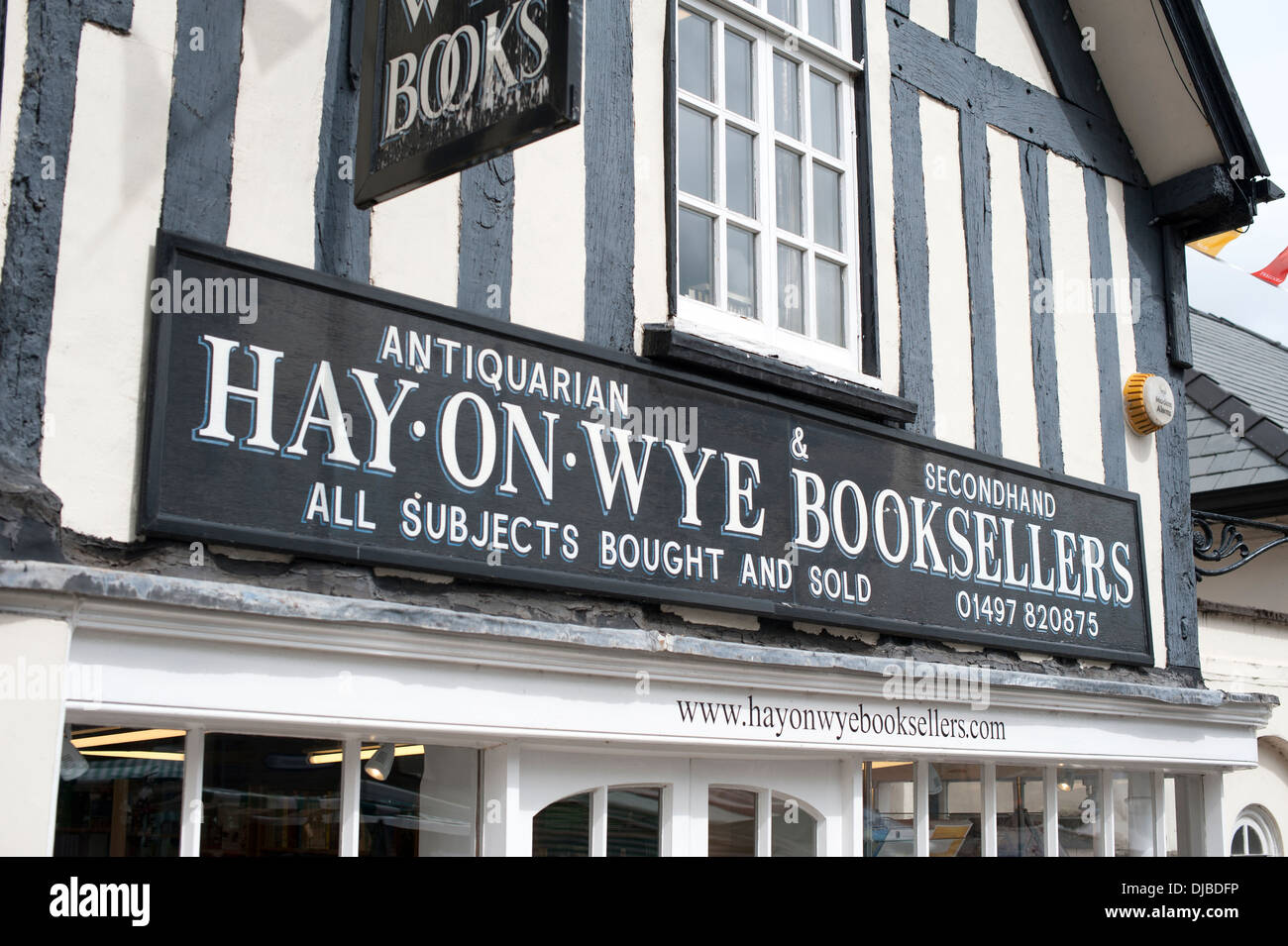 Hay-On-Wye Booksellers Book Shop  Herefordshire UK - Stock Image