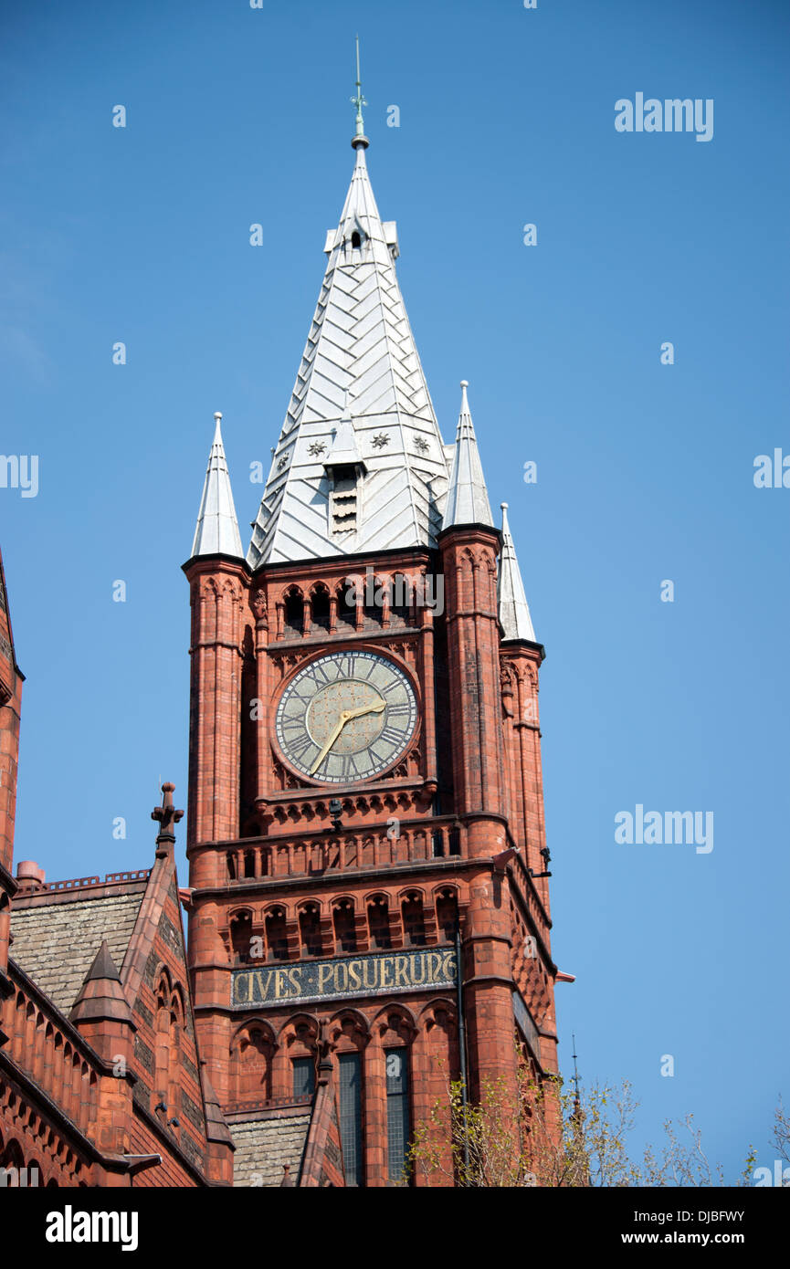 Liverpool Red Brick University Clock Tower - Stock Image