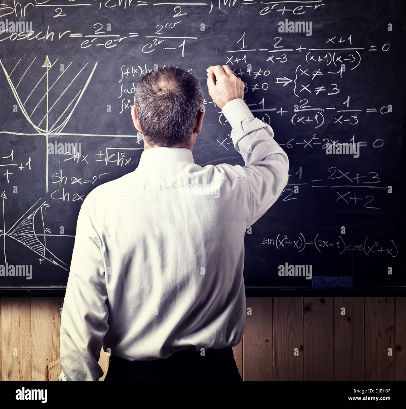 portrait of caucasian senior teacher - Stock Image