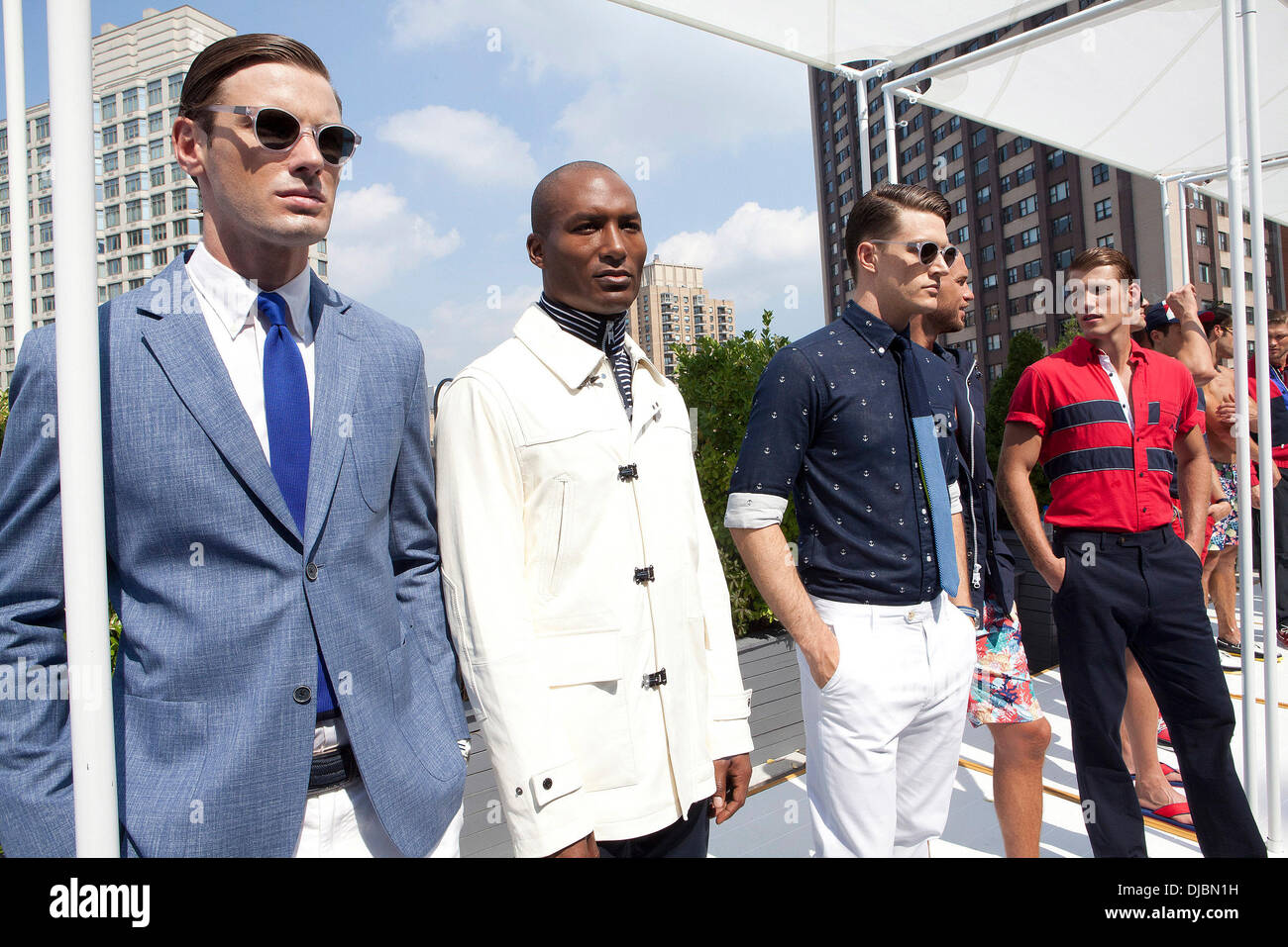 a1129c18bc8 Models Mercedes-Benz New York Fashion Week Spring Summer 2013 - Nautica -  Empire Hotel Rooftop - Presentation New York City