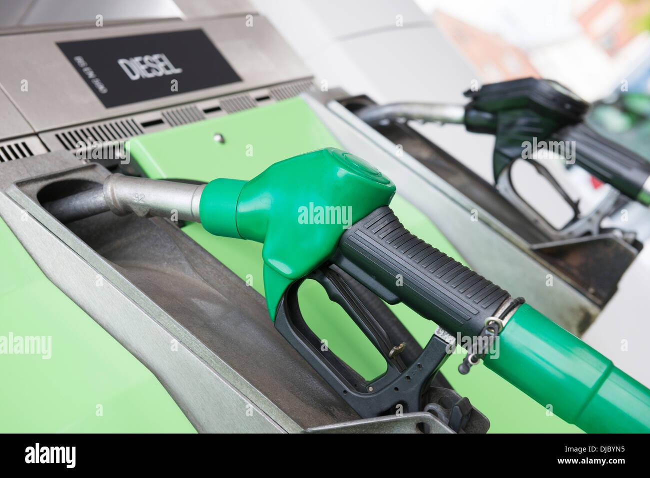 Petrol pumps - Stock Image