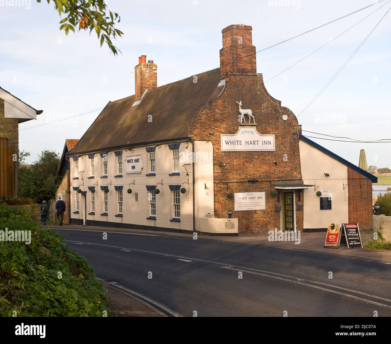 White Hart Inn village pub Blythburgh Suffolk England - Stock Image