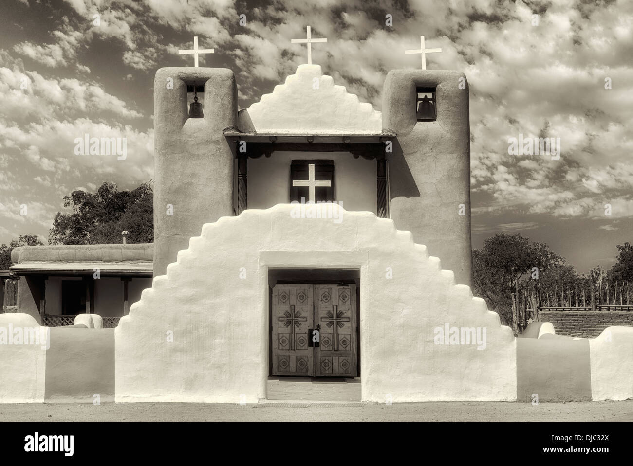 San Geronimo Church in Pueblo de Taos. Taos, New Mexico. - Stock Image