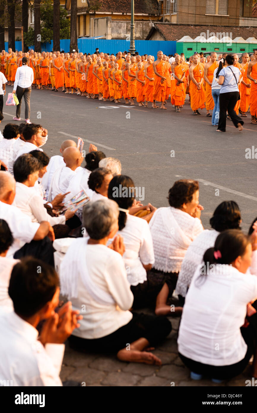 Cambodia commemorating former King Sihanouk who died in Beijing on the 15th of October 2012. Phnom Penh, 26th of Stock Photo