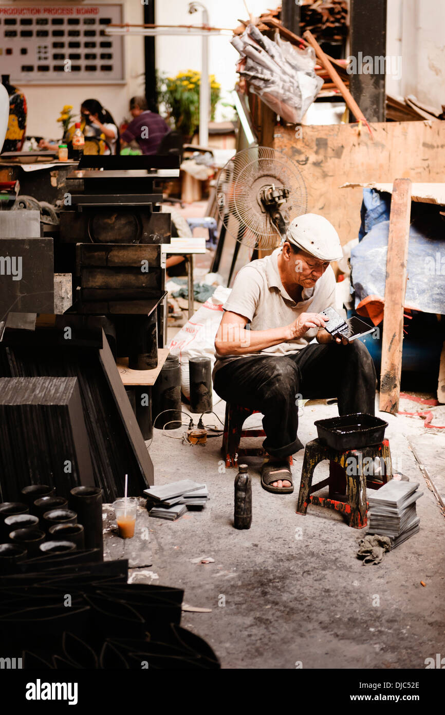 Hand Craft Workshop, Ho Chi Minh City (Saigon), Vietnam. - Stock Image