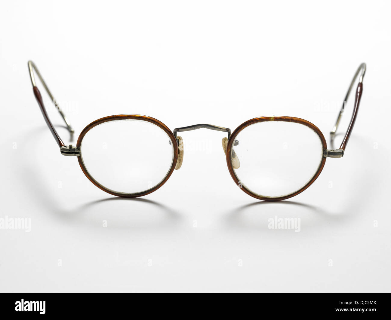 Pair of old fashioned glasses with wire frames Stock Photo: 62962842 ...