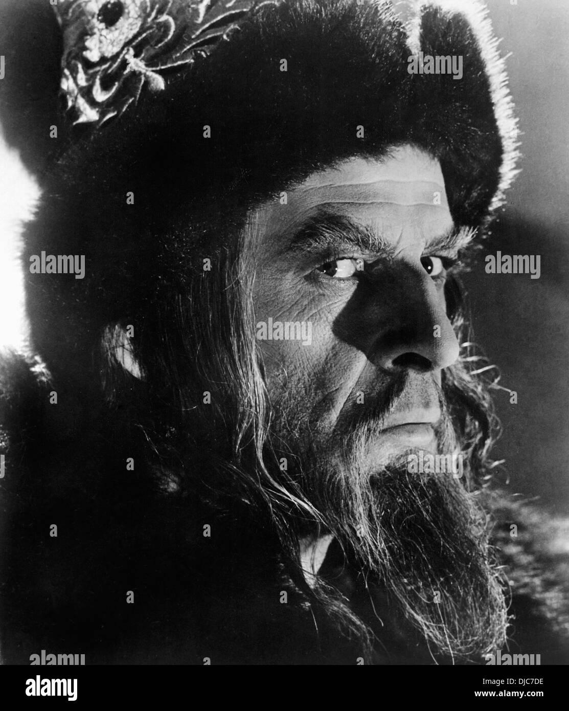 Nikolai Cherkassov on-set of the Film, Ivan the Terrible II (aka Ivan Groznyy II), 1945 - Stock Image