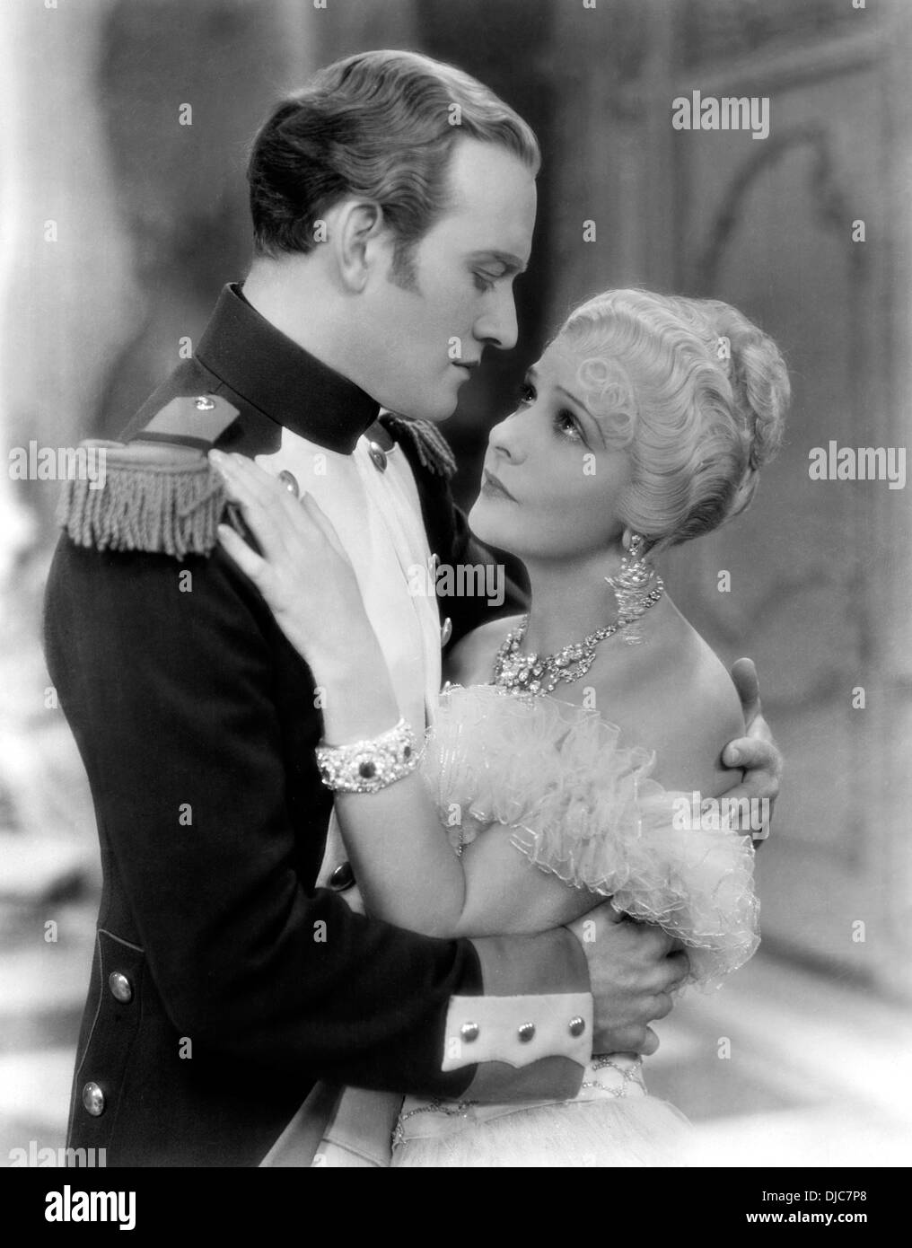 Conrad Nagel and Norma Talmadge on-set of the Film, Du Barry, Woman of Passion, 1930 - Stock Image