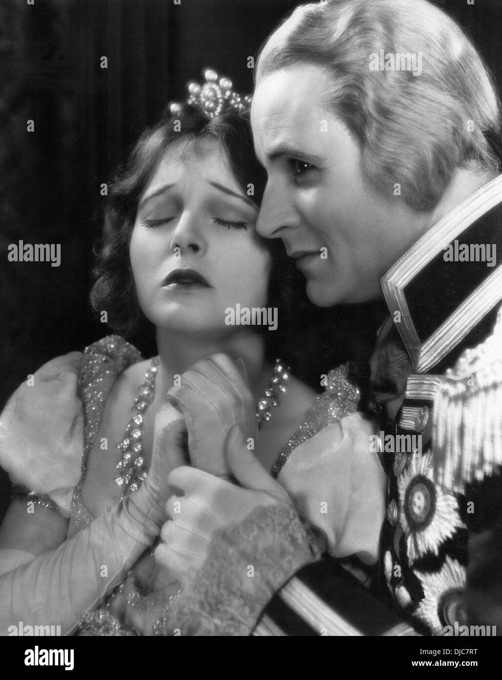 Corrine Griffith and Victor Varconi on-set of the Film, The Divine Lady, 1929 - Stock Image