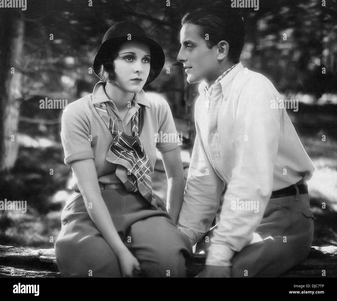 Phillips Holmes and Frances Dee on-set of the Film, An American Tragedy, 1931 - Stock Image