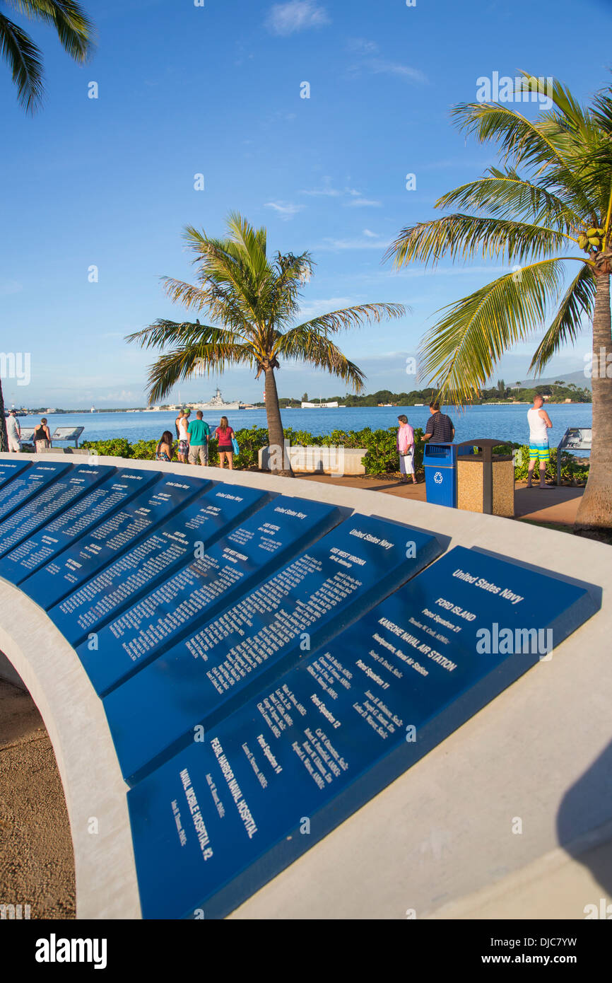 Pearl Harbor Visitors Center, World War II Valor in the Pacific National Monument, Oahu, Hawaii Stock Photo