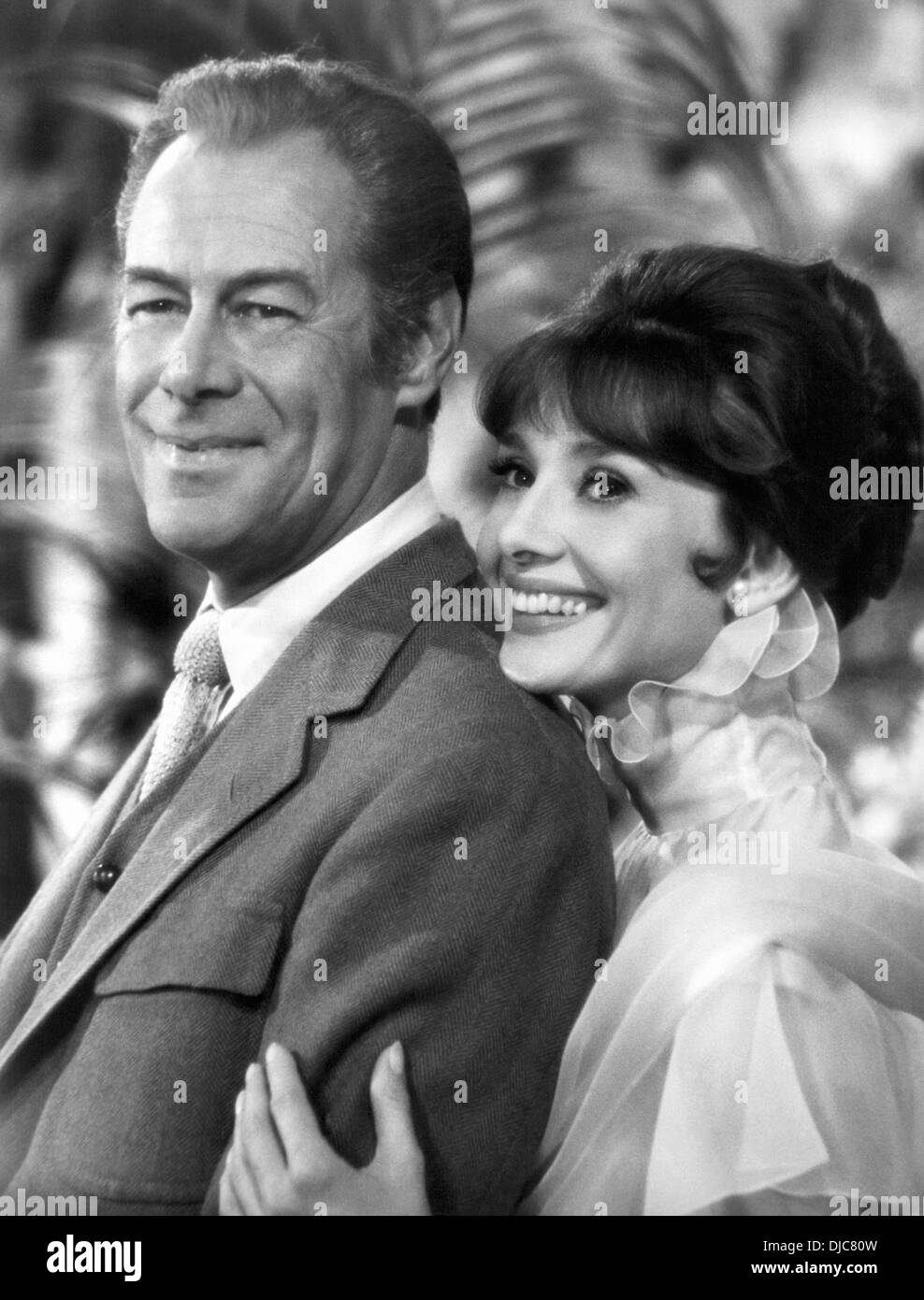 Rex Harrison And Audrey Hepburn On Set Of The Film My Fair Lady Stock Photo Alamy